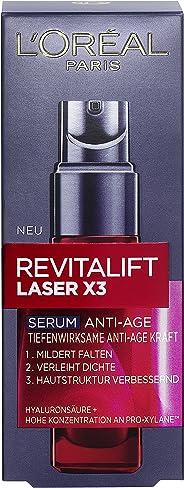 L'Oréal Paris 巴黎欧莱雅 3倍维他命深层抗老精华素,含透明质酸,可保湿,明显柔化皱纹,30毫升