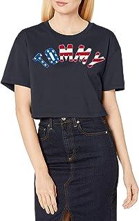 Tommy Hilfiger 女士短款 T 恤 天空船长 X-Large