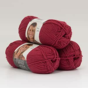 批量购买:狮子品牌趣味毛纱(3 件装) #320-113-red 3 件装 320-113