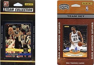 NBA San Antonio Spurs 2 Different Licensed Trading Card Team Sets