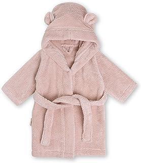 Natemia 婴幼儿*连帽浴袍 - 超柔软和吸水 GOTS 认证土耳其棉儿童睡袍 - 土耳其制造 腮红 2-3 y