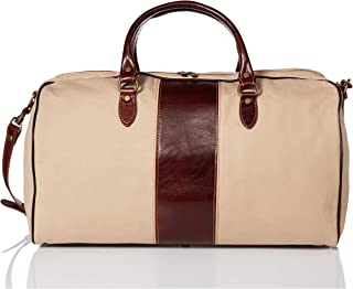 Floto Luggage Venezia Duffle In Canvas and Leather 褐色 均码