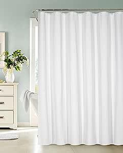 Dainty Home Ellen Tracy Fieldstone 棉混纺浴帘 白色 标准 FSSCWH