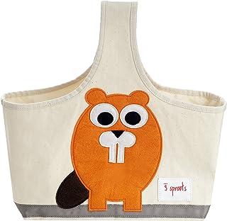 3 Sprout储物盒-婴儿、婴儿和尿布收纳袋 海狸 1包