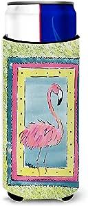 Caroline's Treasures 8106-Parent Flamingo *饮料隔热器适用于纤薄罐 8106MUK,多色 多种颜色 Slim 8106MUK