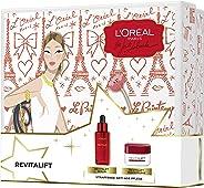 L'Oréal Paris 巴黎欧莱雅复颜精华+复颜日霜 面部护理套装 含透明质酸 保湿护理皱纹 适合紧致肌肤 (1 x 576 g)