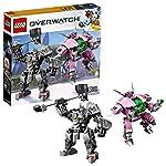 LEGO 乐高 拼插类玩具LEGO Overwatch守望先锋系列D.VA对战莱因哈特10岁+ 75973积木玩具