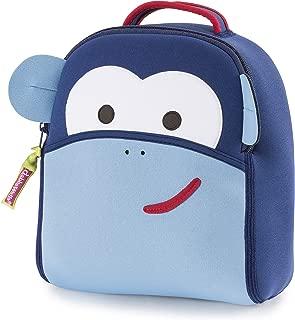 Dabbawalla Bags 藍色猴子背帶背包,深藍色/淺藍色/紅色