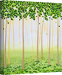 Art Wall 'Misty Morning Forest' Gallery Wrapped Canvas Artwork by Herb Dickinson, 18 by 18-Inch