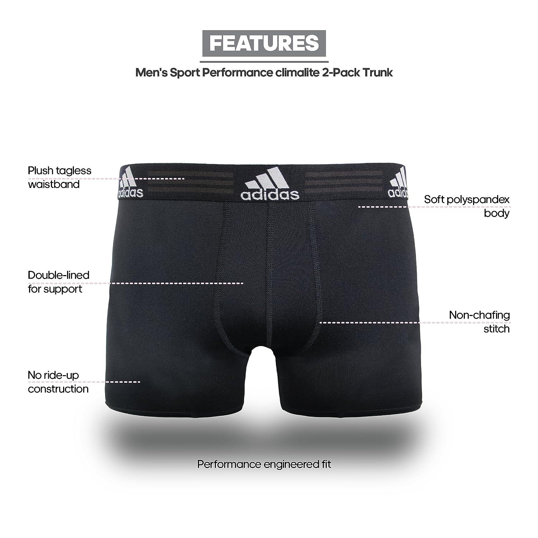 2ff38ff4c4b8 adidas 阿迪达斯男式运动性能Climalite 平角内裤(2 条装)-服饰箱包-亚马逊中国