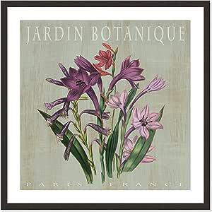 """Casa Fine Arts Jardin Botanique II 复古植物档案印花 Dark Espresso Frame 31"""" x 31"""" 0601"""