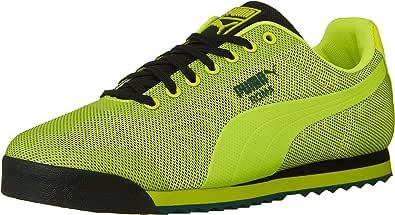 PUMA 男士 Roma HM 时尚运动鞋 *黄色/Puma B 7.5 M US