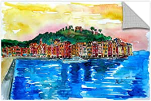 "Tremont Hill Marcus/Martina Bleichner ""Picturesque Portofino Ligure Italy""可移除墙壁艺术壁画 蓝色 16X24"" 0ble192a1624p"