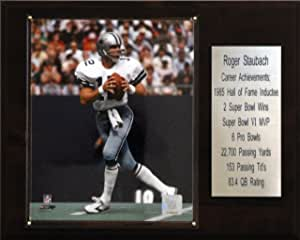 NFL Roger Staubach Dallas Cowboys Career Stat Plaque