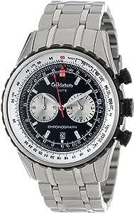 Altanus Geneve 男式'Elite' 石英不锈钢休闲手表,颜色:(型号:7909B-01)
