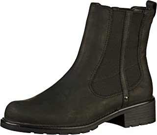 Clarks 女式 Orinoco Club 经典低帮靴 Schwarz (Black Leather) 40 EU