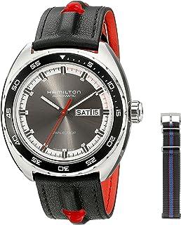 Hamilton 男士 H35415781 永恒经典模拟显示自动感应灰色手表