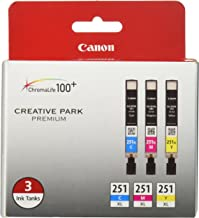 Canon CLI-251XL 3 墨水超值裝,兼容 MX922、iP8720、iX6820、MG7520、MG6420、MG5620 和 MG5721 打印機