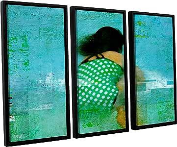 "ArtWall 3 Piece ""Greg Simanson's Floating Away"" Floater Framed Canvas Artwork, 24"" x 36"""