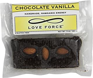 Love Force Chocolate Vegan Energy Bar, Vanilla Rawganic, 3 Ounce