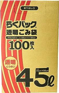 轻松装透明垃圾袋45l 100片装(箱装)