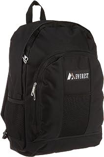 Everest 行李背包带正面和侧面口袋 黑色 均码
