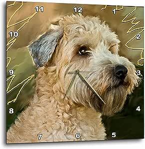 3dRose dpp_4808_1 Soft Coated Wheaten Terrier Portrait-Wall Clock, 10 by 10-Inch