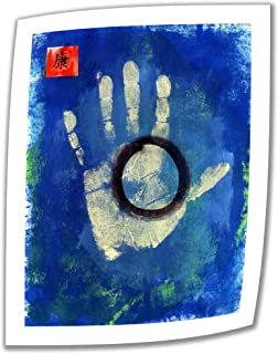 Art Wall Health Hand Print 18 by 14-Inch Unwrapped Canvas Art by Elena Ray with 2-Inch Accent Border