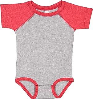 4430 Rabbit Skins Rabbit Skins 婴儿复古精细针织棒球连体衣