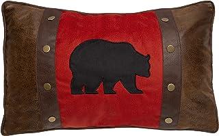 熊和铆钉乡村小屋抱枕(含枕芯)45.72 厘米 x 60.96 厘米