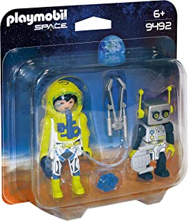 PLAYMOBIL 9492 两件装玩具 宇航员和机器人