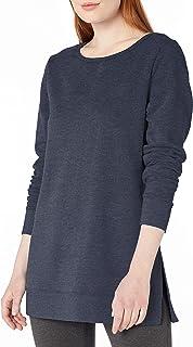 Amazon Essentials 女士标准开领法式厚绒布羊毛束腰外衣