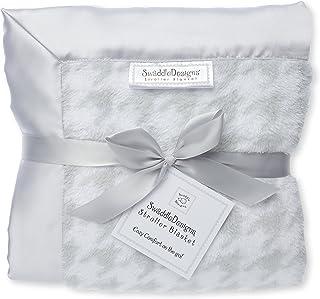 SwaddleDesigns Stroller Blanket, Puppytooth Sterling
