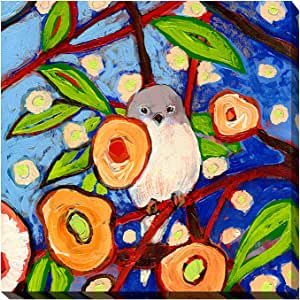 "Picture Perfect International 704-0927_2424 ""Bird X"" by Jennifer Lommers Giclee Stretched Canvas Wall Art, 24"" x 24"" x 1"""