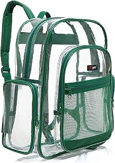 透明校园背包带彩色饰边,透明 PVC 书包 - MGgear