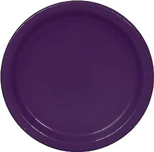 Unique 39065 Deep Purple Dinner Plates, 25 ct, Deep Purple