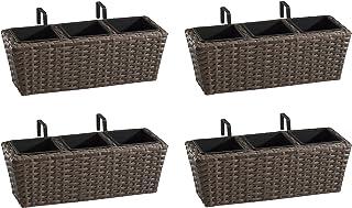 Weles GMBH Gartenfreude 4000-1002-024 47 17 xcm 树脂柳条阳具盒包括安装 4000-1002-027