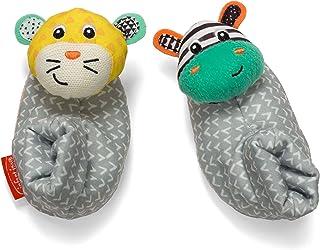 Infantino 斑马和小老虎套脚鞋子
