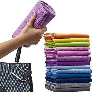 超细纤维旅行毛巾 XL 76.2x152.40 厘米免费手巾 - 速干,小巧,柔软,轻便,*。 适用于背包、露营、海滩、健身房、游泳。 包括手提袋。