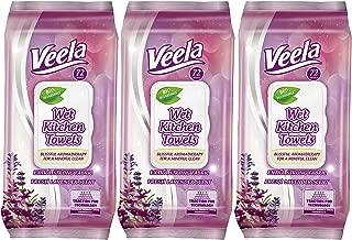 Veela 可生物降解湿厨房毛巾 粉红色 3 Pack