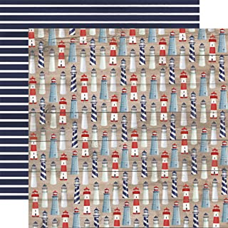 Carta Bella Paper Company CBBS120007 灯塔纸,红色,蓝色,*蓝,青色,奶油色