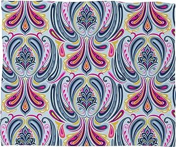Deny Designs Mary Beth Freet Indigo Scrolls 羊毛毯 大 57599-flelar