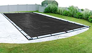 Pool Mate 381624R-PM Black Mesh Winter Cover for In-Ground Swimming Pool 黑色 30 x 50-Foot Pool