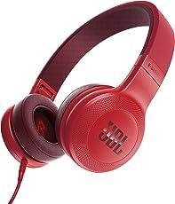 JBL E35 耳机 密闭式耳机/带麦克风 红色 JBLE35RED 【国内正规品】