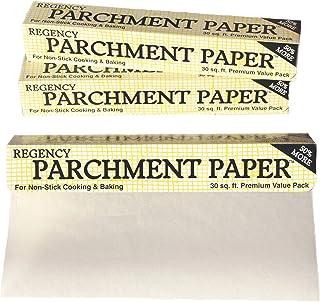 Regency Parchment 纸不粘蛋糕盘和饼干纸衬垫,用于烹饪和烘焙,30 英尺卷 白色 30' RW133