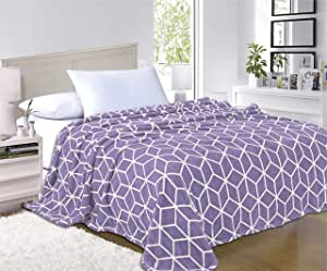 Elegant Comfort 超柔软毛绒玩具,* 低*性 紫色(Lavender) Full/Queen 02RW-Cube-Fleece-Queen-Lavender