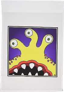 MARK Grace monstervisions monsters–怪兽 monster FACE 7框–旗帜 12 x 18 inch Garden Flag