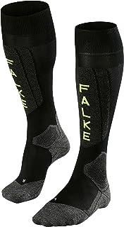 FALKE 男士滑雪袜 SK5 25% 蚕丝 尺码 39-48 多种颜色可选 超轻加垫 Black-Lightning 46-48