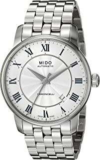 Mido 男式 MIDO-M86004211 Baroncelli 模拟显示瑞士自动银色手表