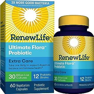 Renew Life Ultimate Flora Probiotic Extra Care 30 Billion Vegetable Capsules, 60 Count